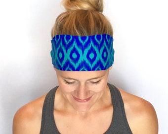 Fitness Headband - Workout Headband - Running Headband - Yoga Headband - Jade Feather