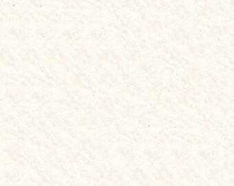 "White 100% Merino Wool Felt Sheet 8"" x 12"""