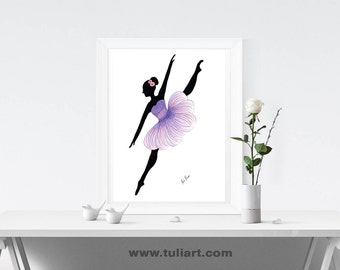 Ballerina Art Illustration-Lorato