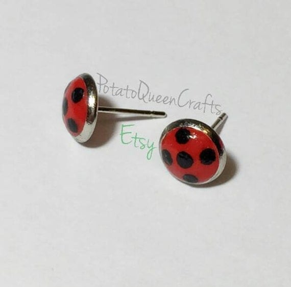 items similar to ladybug earrings on etsy