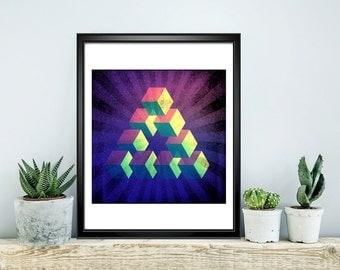 Geometric wall art, printable art, abstract wall art, geometric modern art, geometric design, abstract poster, geometric pattern