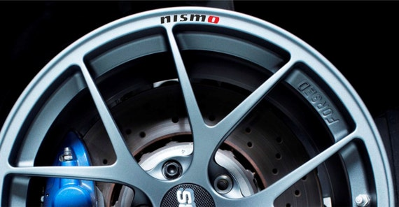 Nissan Nismo Rims Alloy Wheel Decals Stickers Curved Graphics