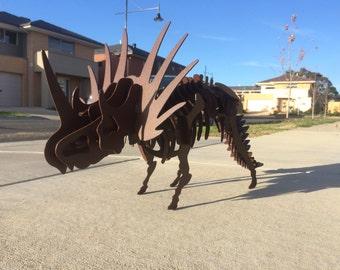 3D Metal Styracosaurus