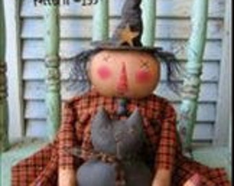 "Primitive doll PATTERN ""Lily & Licorice"""