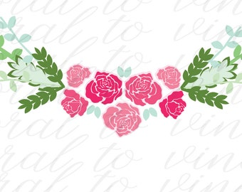 roses SVG, floral svg, spring floral SVG, floral rose svg, rose SVG, floral cut file, flower svg, Mother's Day svg, flower svg floral, svg