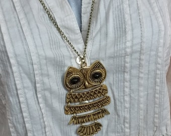 Designer bronze OWL pendant with necklace CK112