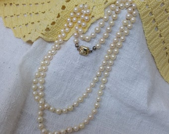 Akoya pearl necklace 925 necklace 14 k gold-plated HK116