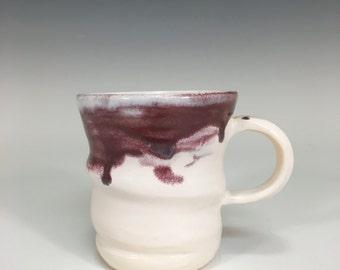 Plum Mug || purple ceramic mug | handmade ceramics | wheel thrown | clay mug | swirl | coffee mug | ceramic gifts | clay cup |