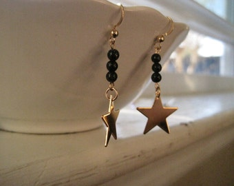 Star and Goldstone Earrings