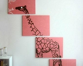 4 tier giraffe canvas
