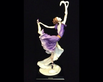 FREE SHIPPING-Fabulous-Made In Italy-Giuseppe Armani-504-C-Ballerina With Cloth-Limited Edition-730/10,000-Sculpture-IOB