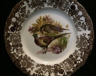 """FREE SHIPPING-The Royal Worcester Group-Palissy-England-Est. 1853-Game Series-Birds-Pheasant-10""""-Dinner Plate"""