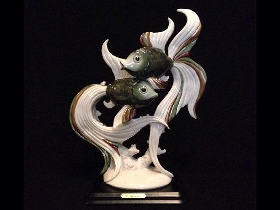 FREE SHIPPING-Fabulous-Very Rare-Made In Italy-Giuseppe Armani-2109-E-Oscar Fish-Sculpture