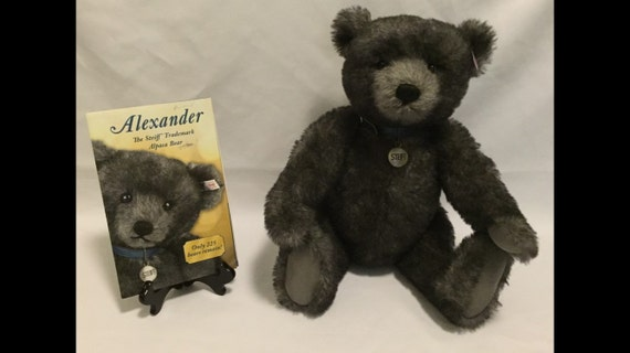"FREE SHIPPING--18"" Standing-Steiff-Teddyb Alexander-Limited Edition-Jointed-Brown-Mohair-Made Germany-Teddy Bear-#681325"