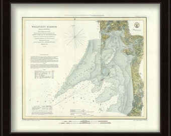0405-Wellfleet Harbor Nautical Chart 1852