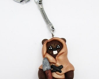 Key ring Fimo Ewok from Star Wars