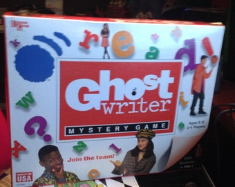 SALE! Vintage (c.1995) Ghost Writer board game published by University Games.  Based on the popular PBS kids' show of the 1990s. Incomplete.