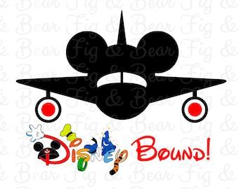 Disney Bound Mickey Mouse Airplane Shirt Iron On Transfer Mickey Mouse Plane