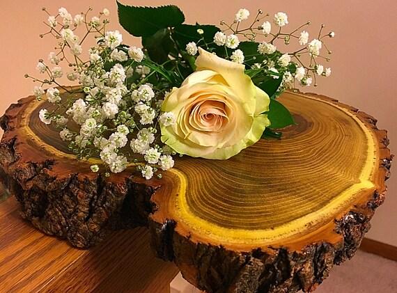 Rustic wood centerpiece wooden wedding