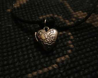 Valentine's Day Inspired Heart Locket Heart Necklace
