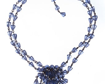 Blue Faceted Crystal Choker
