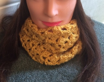 Mother's Day gift - Ladies cowl scarf - winter scarf - Woolly cowl