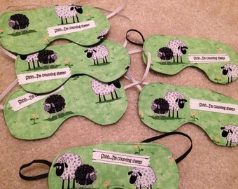 Counting Sheep sleep mask black out sweet dreams