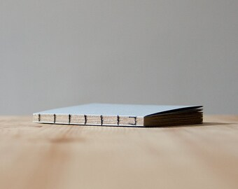 Small Light Blue Paper Cover Coptic Stitch Notebook | Sketchbook | Journal