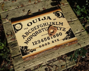 "Rustic Natural Wood Ouija Board 12"" x 16"""