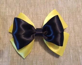 Yellow/Black Hair Bow - Wiggles