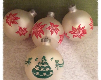 Vintage Christmas ornaments - tree Decorations - Vintage Christmas Ornaments  -  Glass ornaments - Holiday decor