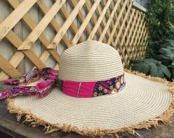 Floppy sun hat | floppy beach hat |  floppy hat | beach straw hat