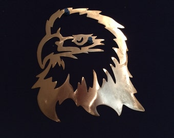 Eagle with Fiery Attitude Metal Wall Art