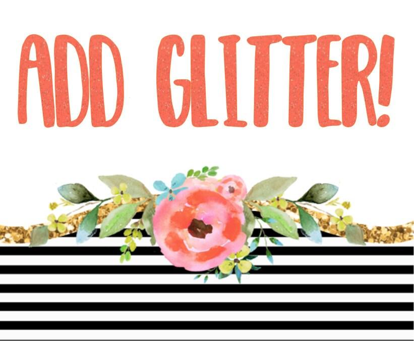 decal glitter add on  glitter vinyl  glitter monogram Backpack Clip Art Baggage Clip Art