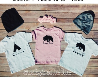 Custom Children's Nickname Tees & Onesies