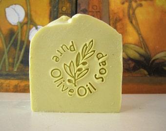 Olive Oil Soap , All Natural,  100% Pure Olive Oil soap, Castile Soap,Peppermint Eucalyptus , Gentle Soap, Sensitive Skin Soap, סבון שמן זית