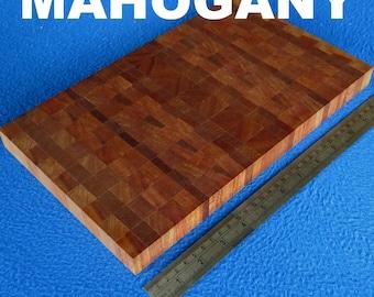 Small END GRAIN Kitchen Cutting Chopping Board Butcher Block MAHOGANY Eco Wood