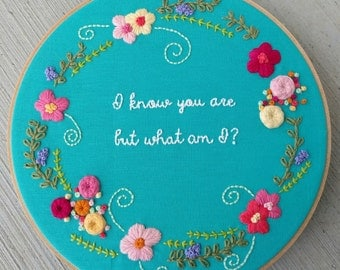 I know you are but what am I hoop art
