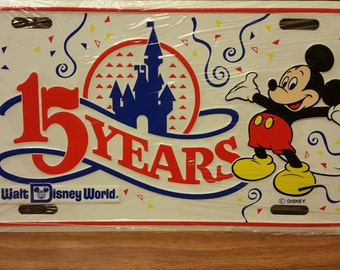 Walt Disney World 15 years license plate