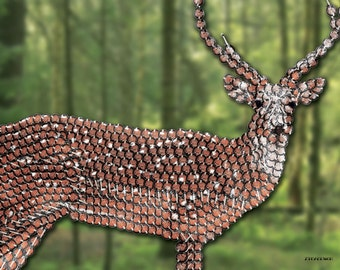 Mandolin Deer 8.5x11
