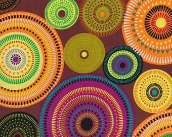 Michael Miller Norwegian Woods - 9.95 Yard - AURORA Borealis - Forest FBTY - Geometric Fabric