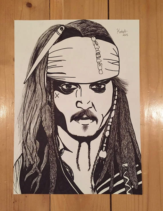 Captain Jack Sparrow Poster by ScribblesAndSharpies on Etsy