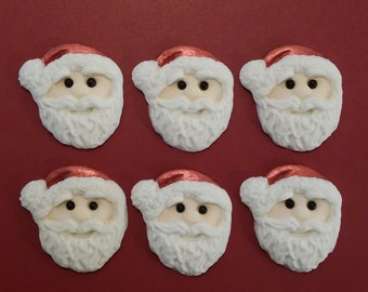 Father Christmas Santa edible cupcake cake toppers decorations