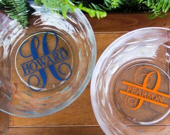 Monogram Salad Bowl Wedding Gift