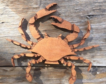 Crab Wooden Wall Decor Wall Hanging Nautical Beach Decor