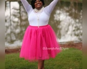 Tulle Midi Skirt (Several Colors) XS - 6XL Plus Size
