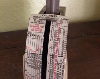 Vintage Pelouze Evanston 1963 Countess Postal Scale