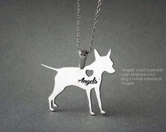 PINSCHER NAME Necklace - Pinscher Name Necklace - Personalised Necklace - Dog breed Necklace - Dog Necklace