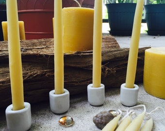 "100% Pure Beeswax hand-dipped candles-6"" beeswax taper candles-1/2"" hand-dipped candles-natural beeswax candles-pure organic beeswax"