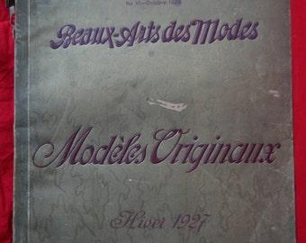 RARE 1927 Winter catalog from fashion company Atelier Bachwitz - Beaux-Arts des Modes - Modèles Originaux
